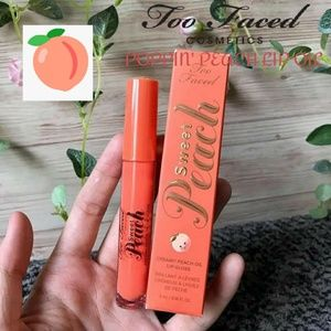 3/$15 🍑Too Faced Poppin Peach Creamy Lip Oil